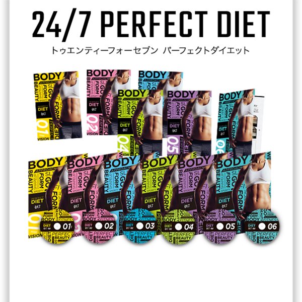 24/7Workout PERFECT DIET PHASE01 (DVD)